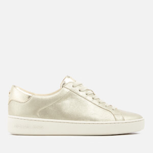 MICHAEL MICHAEL KORS Women's Irving Brushed Metallic Lace Up Trainers - Champagne