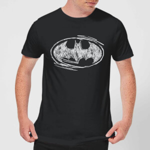 T-Shirt DC Comics Batman Sketch Logo - Nero