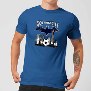 DC Comics Batman Fußball Gotham City T-Shirt - Blau