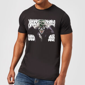 T-Shirt DC Comics Batman Killing Joker HaHaHa - Nero