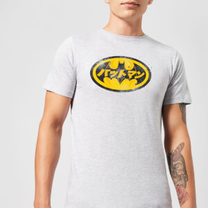 DC Comics Batman Japanese Logo T-Shirt - Grey