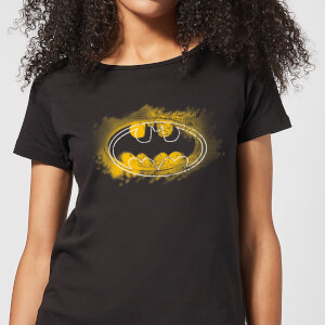 Camiseta DC Comics Batman Logo Spray - Mujer - Negro