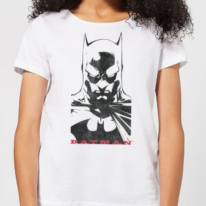 DC Comics Batman Solid Stare Women's T-Shirt - White
