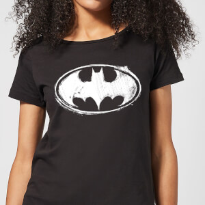 DC Comics Batman Sketch Logo Women's T-Shirt - Black