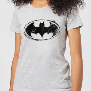 DC Comics Batman Sketch Logo Women's T-Shirt - Grey