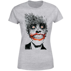 DC Comics Batman Joker Face Of Bats Women's T-Shirt - Grey