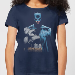 DC Comics Batman Close Up Women's T-Shirt - Navy