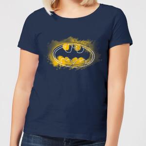 T-Shirt Femme Batman DC Comics Logo Graffiti - Bleu Marine