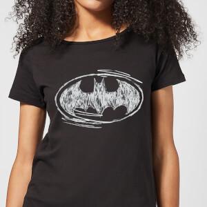 T-Shirt Femme Batman DC Comics - Croquis Logo - Noir