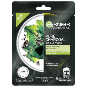 Garnier SkinActive Pure Charcoal Tissue Mask - Black Algae (1 Mask)