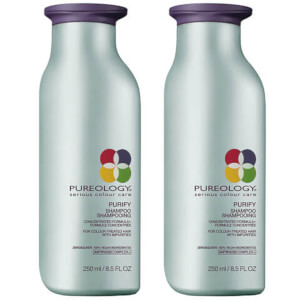 Pureology Purify Colour Care Shampoo Duo 2 szt. szamponu do włosów farbowanych 250 ml