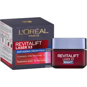 L'Oréal Paris Revitalift Laser X3 Anti-Ageing Night Mask-Cream 50ml