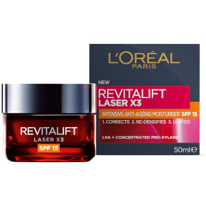 L'Oréal Paris Revitalift Laser X3 Anti-Ageing SPF15 Day Cream 50ml