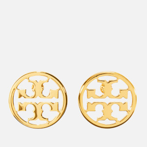 Tory Burch Women's Logo Circle-Stud Earrings - Tory Gold