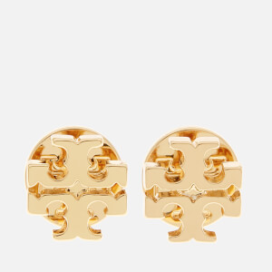 Tory Burch Women's Logo Stud Earrings - Gold