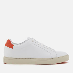 Paul Smith Men's Basso Leather Cupsole Trainers - White/Red Tab