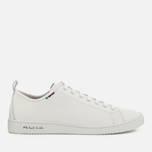 PS Paul Smith Men's Miyata Leather Low Profile Trainers - White