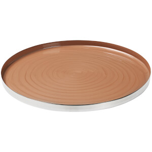 Broste Copenhagen Decorative Sara Round Iron Plate - Indian Tan