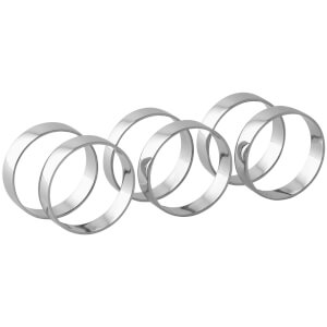 Broste Copenhagen Napkin Ring - Nickel (Set of 4)