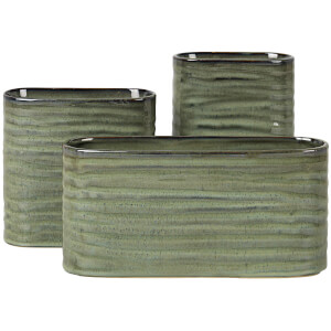 Broste Copenhagen Atil Stoneware Vase - Light Green (Set of 3)