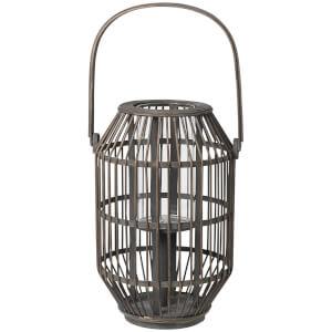Broste Copenhagen Bamboo Lantern - Dark Grey