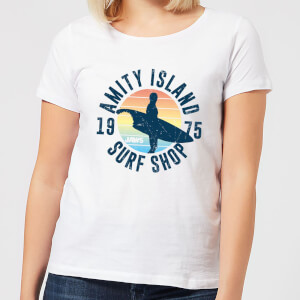 T-Shirt Lo Squalo Amity Surf Shop - Bianco - Donna