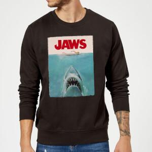 Der Weiße Hai Classic Poster Pullover - Schwarz