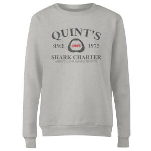 Jaws Quint's Shark Charter Women's Sweatshirt - Grey