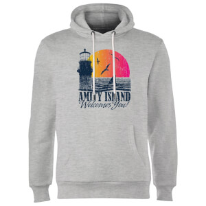 Jaws Welcome To Amity Island Hoodie - Grey