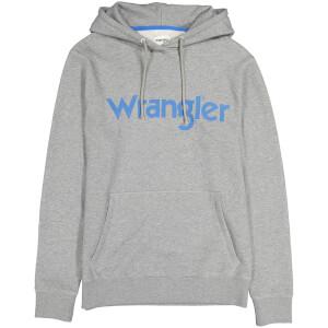 Wrangler Men's Logo Hoody - Grey Melange