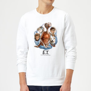 ET Painted Portrait Sweatshirt - White