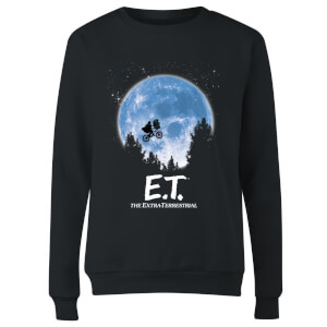 ET Moon Silhouette Women's Sweatshirt - Black