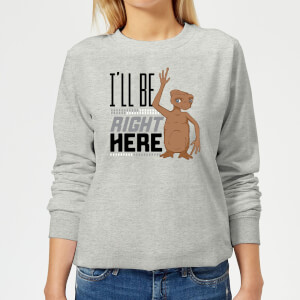 ET Ill Be Right Here Damen Pullover - Grau