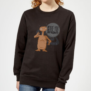 ET Where Are You From Women's Sweatshirt - Black