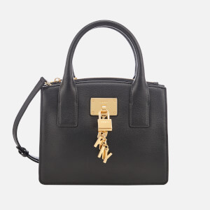 DKNY Women's Elissa Small Tote Bag - Black/Gold