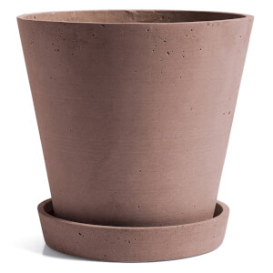 HAY Flowerpot with Saucer - Extra Large - Terracotta