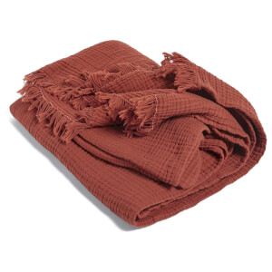 HAY Crinkle Plaid Throw - Red