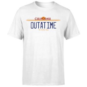 Camiseta Regreso al futuro Matrícula Outatime - Hombre - Blanco
