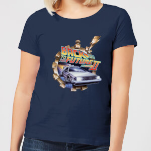 Back to the Future Clockwork Dames T-shirt - Navy