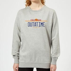 Zurück In Die Zukunft Outatime Plate Damen Pullover - Grau