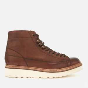Grenson Men's Andy Hand Painted Grain Leather Monkey Boots - Tan