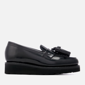 Grenson Women's Clara Hi-Shine Leather Loafers - Black