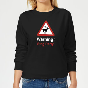 Warning Stag Party Women's Sweatshirt - Black