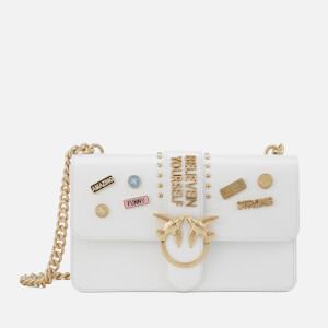 Pinko Women's Love Pins Cross Body Bag - White