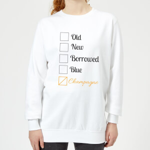 Champagne Tick Box Women's Sweatshirt - White
