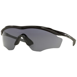 Oakley M2 XL Frame Road Sunglasses - Polished Black/Grey