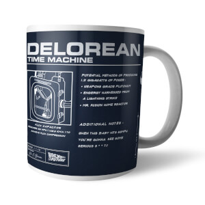 Back To The Future Delorean Schematic Mug