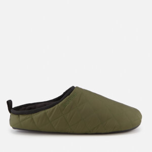 Barbour Men's Guthrie Quilted Fleece Lines Slippers - Olive