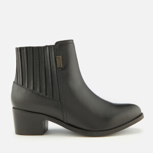 Barbour International Women's Compton Leather Heeled Chelsea Boots - Black