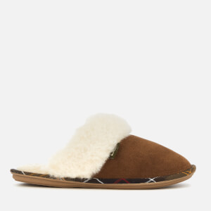 Barbour Women's Lydia Suede Mule Slippers - Camel